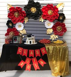 Black Red And Gold Candy Table Candy Dessert Buffet Table In 2019