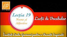 Lecția 19 - Nume si Adjective - Lecții de Vocabular in Limba Germană - YouTube Chart, Youtube, Youtubers, Youtube Movies