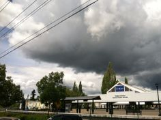 Ominous skies over the WES station.