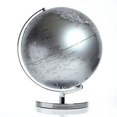 Leuchtglobus ⌀ 43cm Silbern, 134€, jetzt auf Fab.