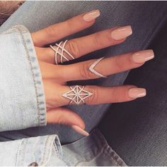 Cute nude coffin nails                                                       …