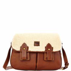 Dooney & Bourke Shearling Saddle Bag (Chestnut)