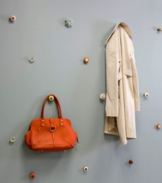 Coat storage  via Red Magazine