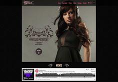 design du site opheliemercury.com by be agency