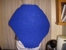 Bright Blue Yonder Shawl Crochet