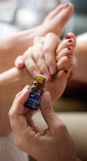 45 Essential Oils for a Relaxing Foot Hand Massage More than just relief for muscle aches, pains and discomfort, it's an entire revitalizing body benefit