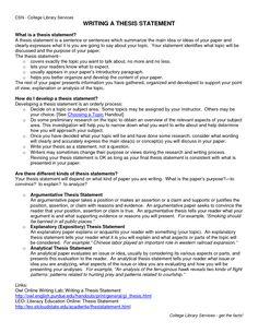 001 thesis statement Career plus+ Essay tips, Essay
