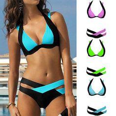 Damen Sexy Bikini Set Push Up Badeanzug Swimwear Bademode S M L