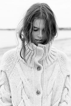 Fisherman style cable knit sweater #minimalist #fashion #style
