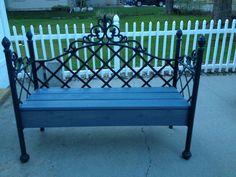 First metal garden bench we made.