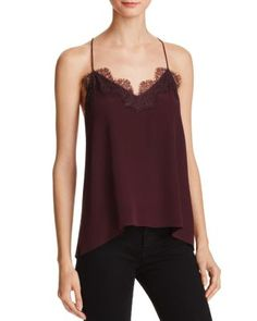 CAMI NYC The Racer Silk Cami | Bloomingdale's