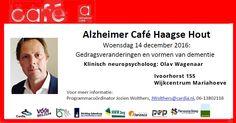 14 Dec - Alzheimer Café Haagse Hout - http://www.wijkmariahoeve.nl/alzheimer-cafe-haagse-hout-mariahoeve/