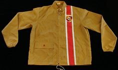 Vintage 70's Porsche Windbreaker With Racing Stripe The Great Lakes Jacket