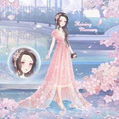 Evergreen Flowers, Anime Girl Crying, Floating Lights, Nikki Love, Little Panda, Tartan Dress, Anime Dress, Cream Flowers, Kawaii Anime Girl