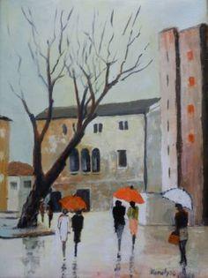 "Saatchi Art Artist Maria Karalyos; Painting, ""On the Stahi street  - sold"" #art"