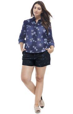 Camisa e shorts Jeans p/ Wee! Primavera Verão 15