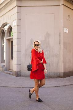 That Red Dress - P.S. I love fashion by Linda Juhola
