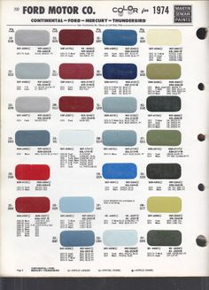 1969 chevrolet colors 1969 chevrolet dodge ford truck for Ford motor paint colors