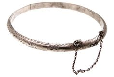 Etched Sterling Silver Bangle on OneKingsLane.com