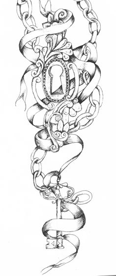 Image detail for -key and lock tattoo by ~vixygoldustpixy on deviantART hip&thigh or calf tattoo? Lock Tattoo, Chain Tattoo, Piercing Tattoo, Tattoo Thigh, Piercings, Outer Forearm Tattoo, Forearm Sleeve, Trendy Tattoos, Tattoos For Women
