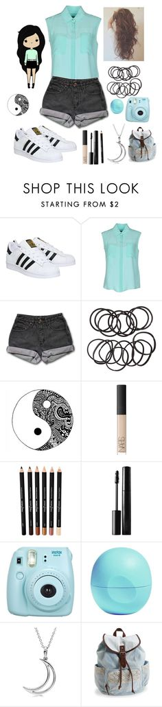 """Quick set:)"" by squidney12 ❤ liked on Polyvore featuring adidas, Tru Trussardi, PèPè, H&M, NARS Cosmetics, xO Design, Fuji, Eos, Allurez and Aéropostale"