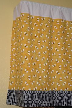 Bumble Bee Nursery Window Valance by BumblesBeesnMore on Etsy, $44.00