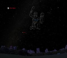 This sky map shows the location of Sirius, the brightest star in the night sky, as it will appear at 8 p.m. local time to stargazers at mid-northern latitudes.