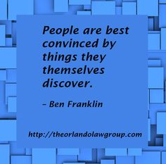 People are best convinced by things they themselves discover. Avalon Park, Business Quotes, Orlando, Real Estate, Inspirational, People, Orlando Florida, Real Estates, People Illustration