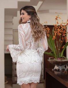 Vestido Renda Laço - Mabô Boutique - Loja especializada em moda feminina