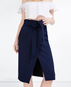 Image 5 of WRAP SKIRT WITH BELT from Zara