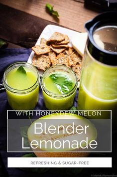 This refreshing homemade lemonade is refined sugar-free, sweetened only with delicious Honeydew melon, (Meyer) lemons, and Stevia powder. Fresh Basil balances the sweet flavors and adds beautiful aromatic qualities. It is the perfect summer sipper for when you crave a cold drink or when you entertain guests! healthy drinks | fruit drinks | summer drinks | homemade lemonade | breakfast ideas | brunch ideas