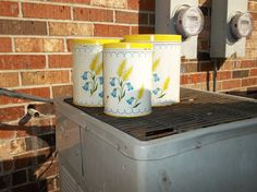 my new-old yellow canisters