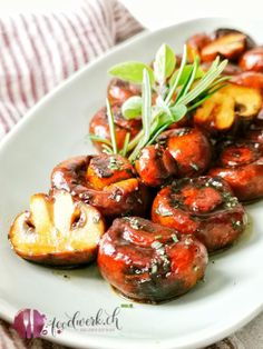Balsamic Grilled Mushrooms- Balsamico Grill- Champignons These mushrooms with balsamic marinade made it … - Salad Recipes For Dinner, Chicken Salad Recipes, Healthy Salad Recipes, Pork Recipes, Vegetarian Recipes, Sandwich Recipes, Healthy Chicken, Grill Sandwich, Healthy Lunches