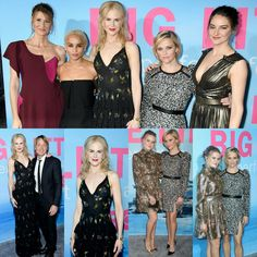#BigLittleLies cast #LauraDern, #NicoleKidman (in #Altuzarra joined by her husband #KeithUrban), #ShaileneWoodley (in #ElieSaab), #ZoeKravitz (in #VeraWang) and #ReeseWitherspoon (in #ElieSaab and joined by her daughter #AvaPhillippe wearing #Haney) at the premiere of the HBO series in Hollywood!