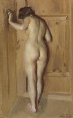 The chamber door - Anders Zorn