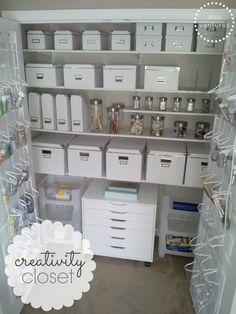 Duo Ventures: Creativity Closet Makeover More great pics here!
