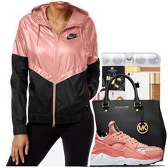 A fashion look from December 2016 featuring NIKE activewear jackets, NIKE shoes et Michael Kors tote bags. Browse and shop related looks.