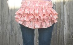 Cute Fanny Pack Ruffles Bustle Bag Shabby Chic by RestylingThePast, $65.00