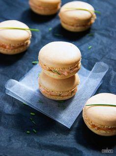 Macarons au saumon fumé et ciboulette sur cookeez.fr