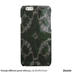 Strange different green white patterm glossy iPhone 6 case Unique Iphone Cases, Iphone 6 Cases, Iphone Models, Different, Green