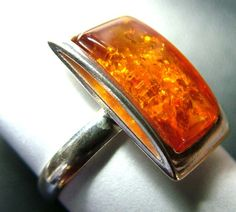 AMBER   RING-SIZE-7.5 SILVER 17.66 CTS  SG-2094  baltic amber ring , gemstone ring , ring size , silver gemstone ring