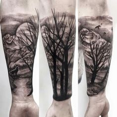 Forrest & mountain tattoo