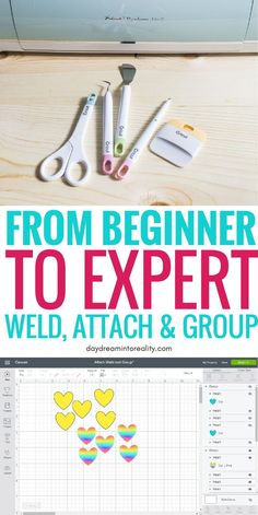 Today we are going to be covering some of the MOST IMPORTANT concepts in Cricut Design Space; Weld, Attach and Group. Learning how to, and when to use any of these tools inside Cricut Design Space will take you from rookie to expert! How To Use Cricut, Cricut Help, Cricut Explore Projects, Cricut Explore Air, Cricut Air 2, Cricut Vinyl, Cricut Craft Room, Cricut Fonts, Cricut Cards