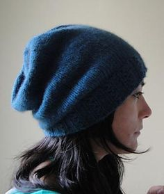 """Cafe Slouch Hat FREE knitting pattern- making this in Plymouth Encore Colorspun #7518 """"Jolly Rancher"""" for The Girl."""