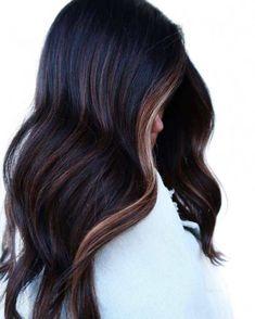 Balayage Hair, Ombre Hair, Fall Balayage, Bayalage On Dark Hair, Dark Brunette Hair, Plum Hair, Black Hair With Highlights, Long Dark Hair, Hair Color And Cut