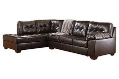 The Alliston DuraBlend® 2-Piece Sectional from Ashley Furniture HomeStore (AFHS.com). DuraBlend®/Match upholstery features DuraBlend® upholstery in the seating areas with skillfully matched vinyl everywhere else.