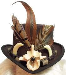beaff8519ae93 Voodoo Witch Doctor Mini Steampunk Gothic Fascinator Top Hat by  JenkittysCloset