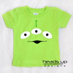 Baby Toy Story Shirt  Baby Girl Alien tshirt  por headsupdesigns, $14.95