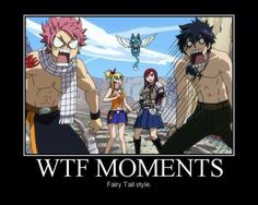 """8 Funny Fairy Tail Memes: """"WTF"""" Fairy Tail Meme http://anime.about.com/od/toppicks/ss/8-Funny-Fairy-Tail-Anime-Memes.htm"""