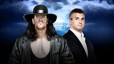 Wrestlemania 32 live results: The Undertaker defeats Shane McMahon. https://www.youtube.com/watch?v=11Q35ZBPMg0